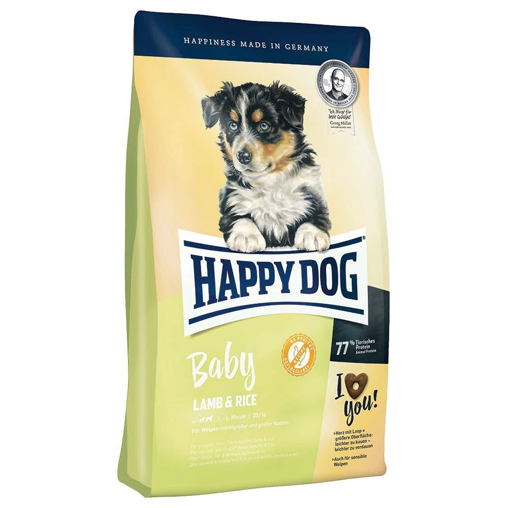Happy Dog Supreme Young Baby Lamb & Rice - säästöpakkaus: 3 x 4 kg