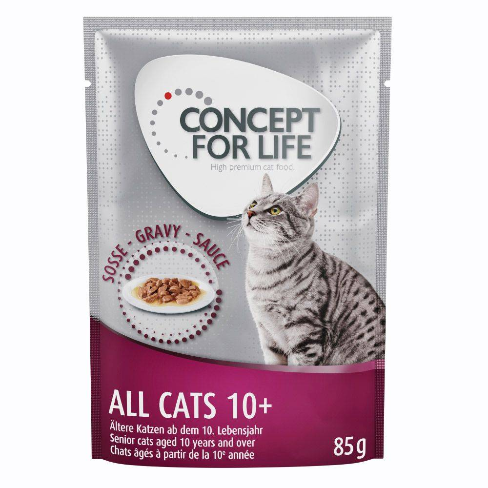 Concept for Life All Cats 10+ - in Gravy - 24 x 85 g
