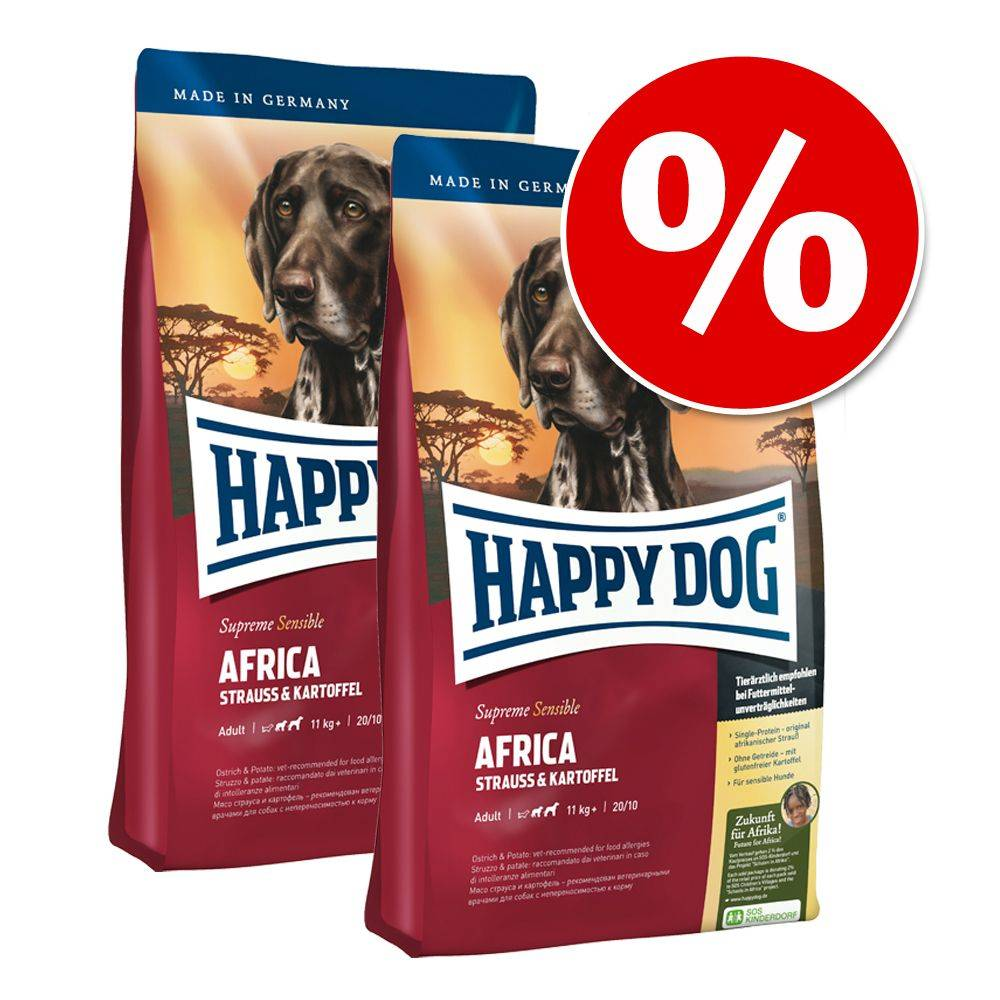 Happy Dog Supreme Young Happy Dog Supreme -säästöpakkaus - 2 x 4 kg Mini Baby & Junior