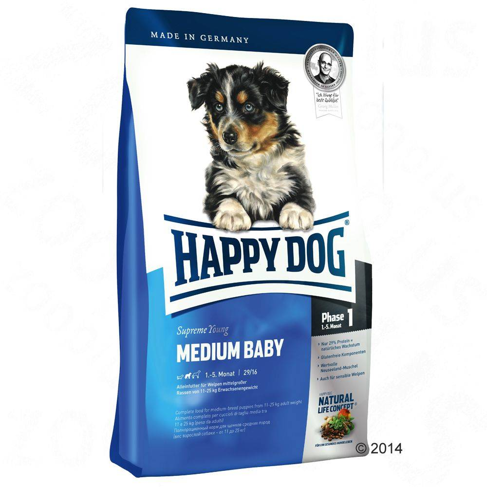 Happy Dog Supreme Young Medium Baby (Phase 1) - säästöpakkaus: 2 x 10 kg