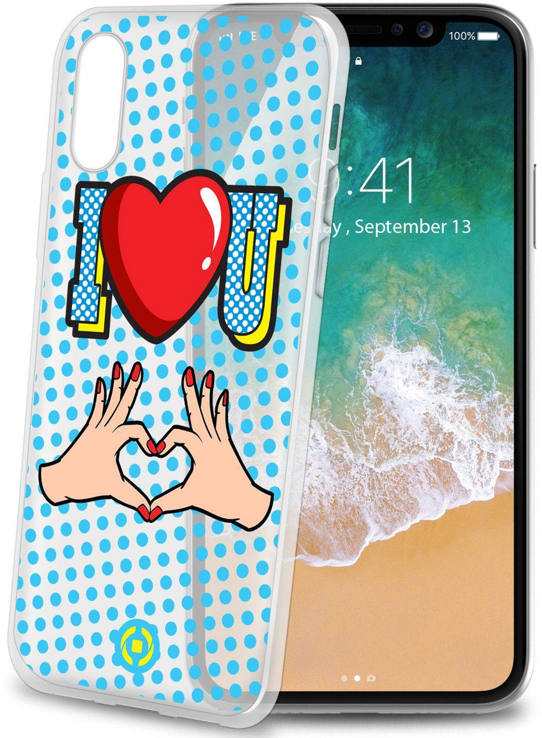 Celly Cover I Love U ( iPhone X)