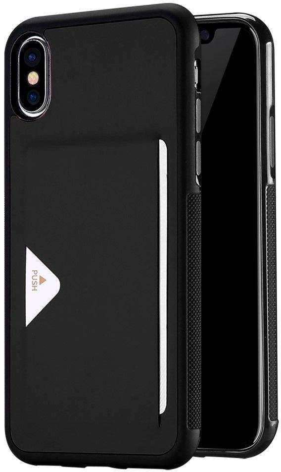 Apple DUX Ducis Pocard Case ( iPhone X) - Musta