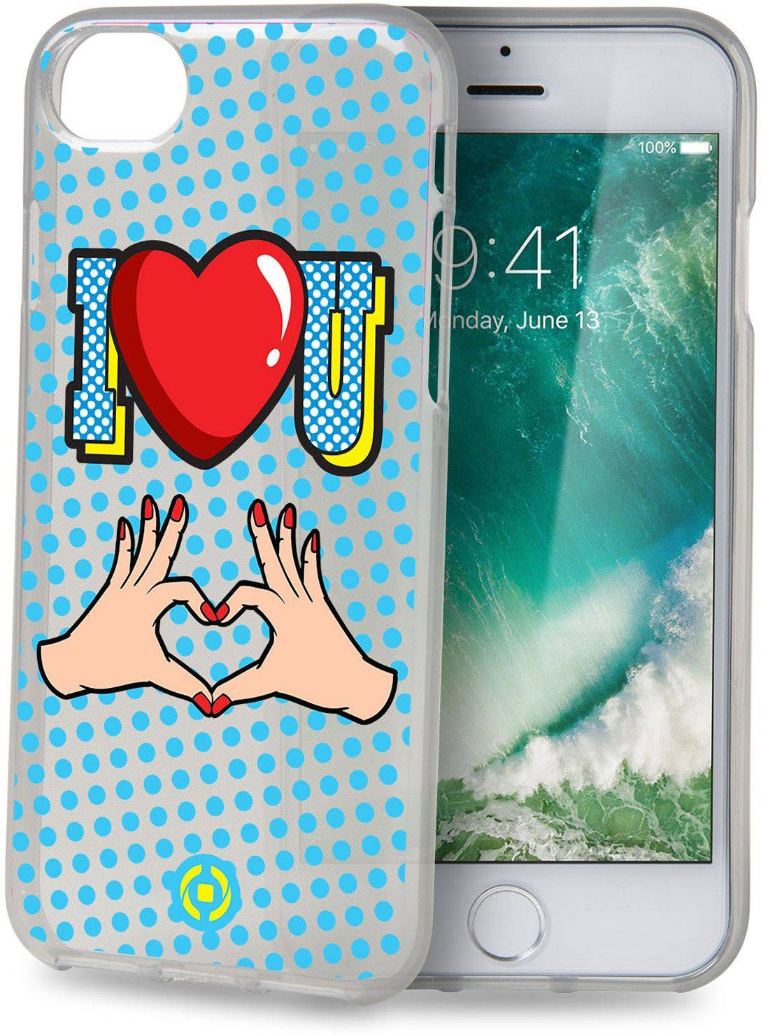 Celly Cover I Love U ( iPhone 8/7 / 6 / 6S)
