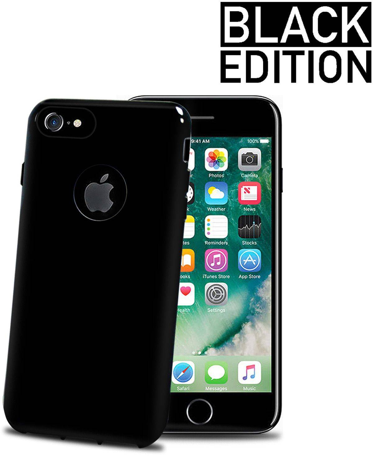 Celly Gelskin TPU - Black Edition ( iPhone 7)