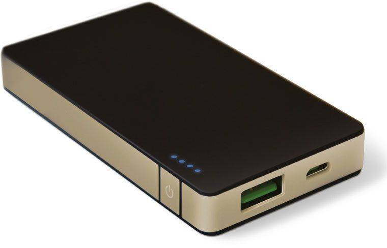 Celly PowerBank 4000 mAh - Musta/kulta