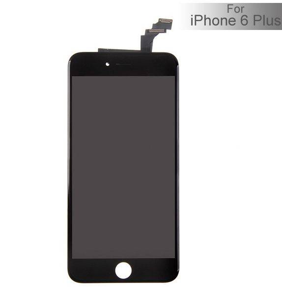 Apple iPhone 6 Plus Outer Lasi LCD - Musta