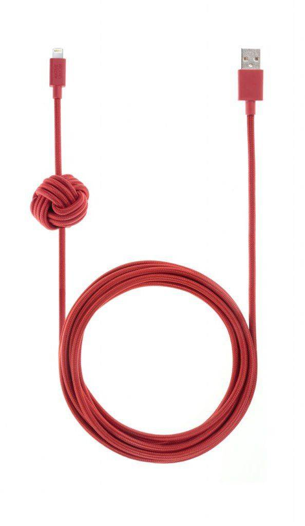 Native Union Night Kaapeli (salama) - Punainen