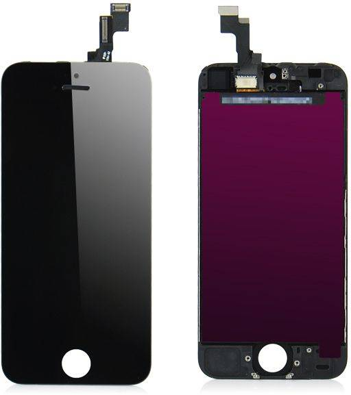 Apple iPhone 5S Outer Lasi LCD - Musta