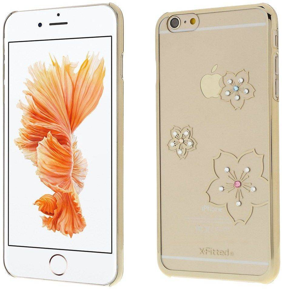 X-Fitted Swarovski Blossom ( iPhone 6 (S) Plus) - Kulta