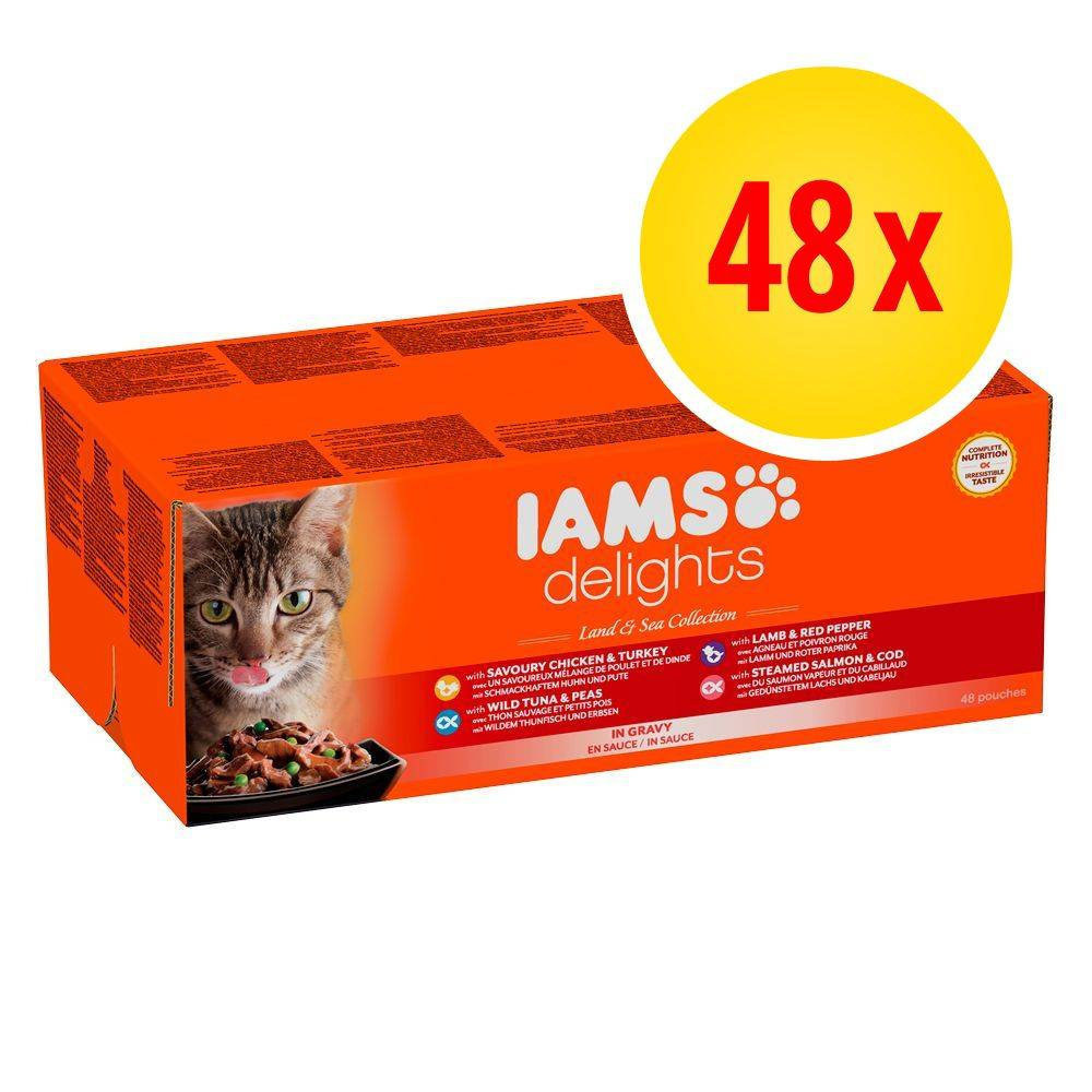 IAMS Delights 48 x 85 g - Sea Mix in Jelly