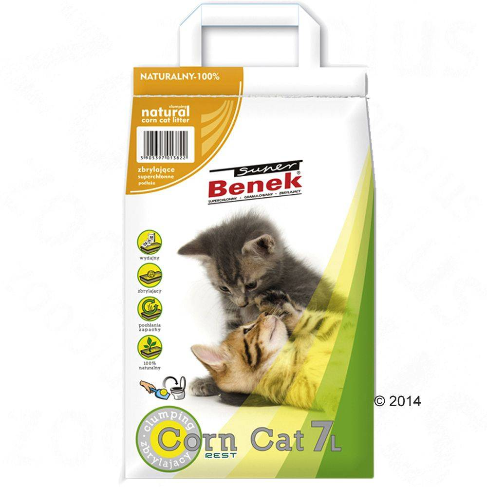 Benek Super Benek Corn Cat Natural - 7 l (noin 5 kg)