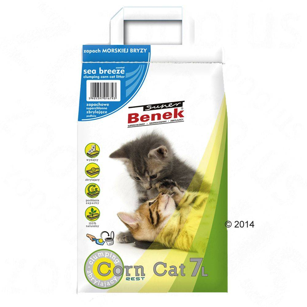 Benek Super Benek Corn Cat Sea Breeze - 7 l (noin 5 kg)