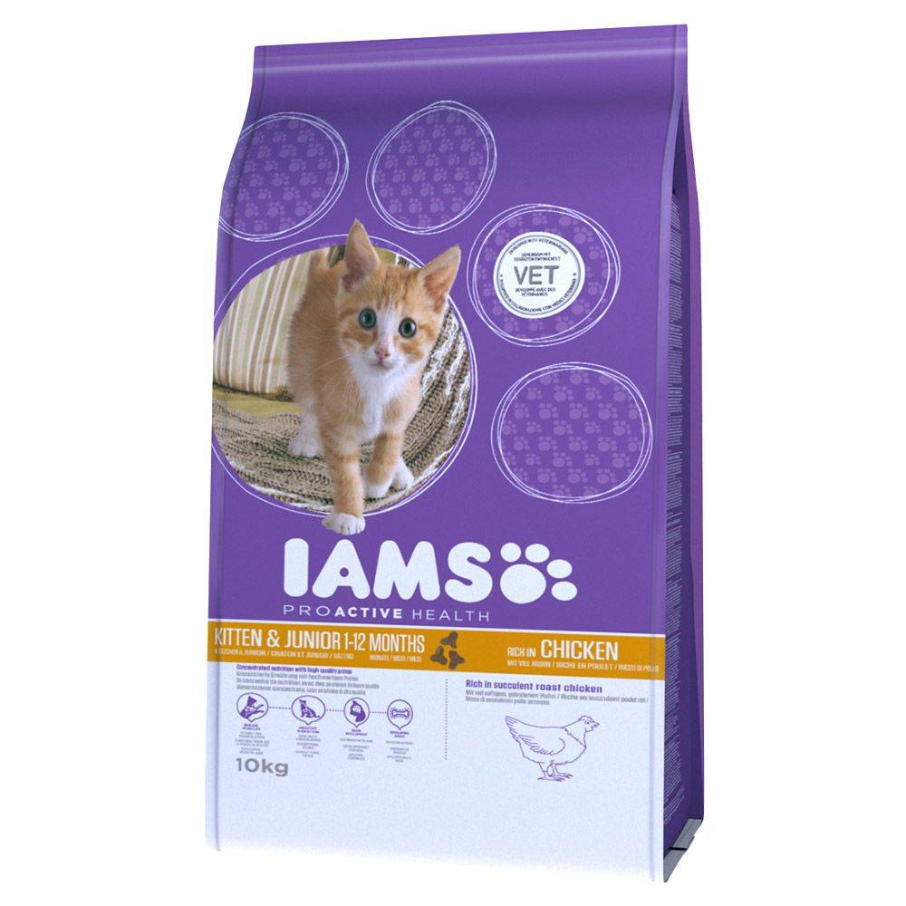 IAMS Pro Active Health Kitten & Junior - 10 kg