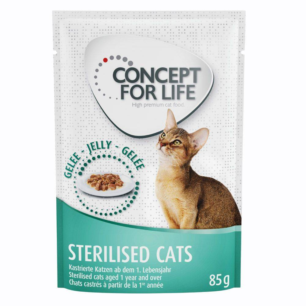 Concept for Life Sterilised Cats - in Jelly - 12 x 85 g