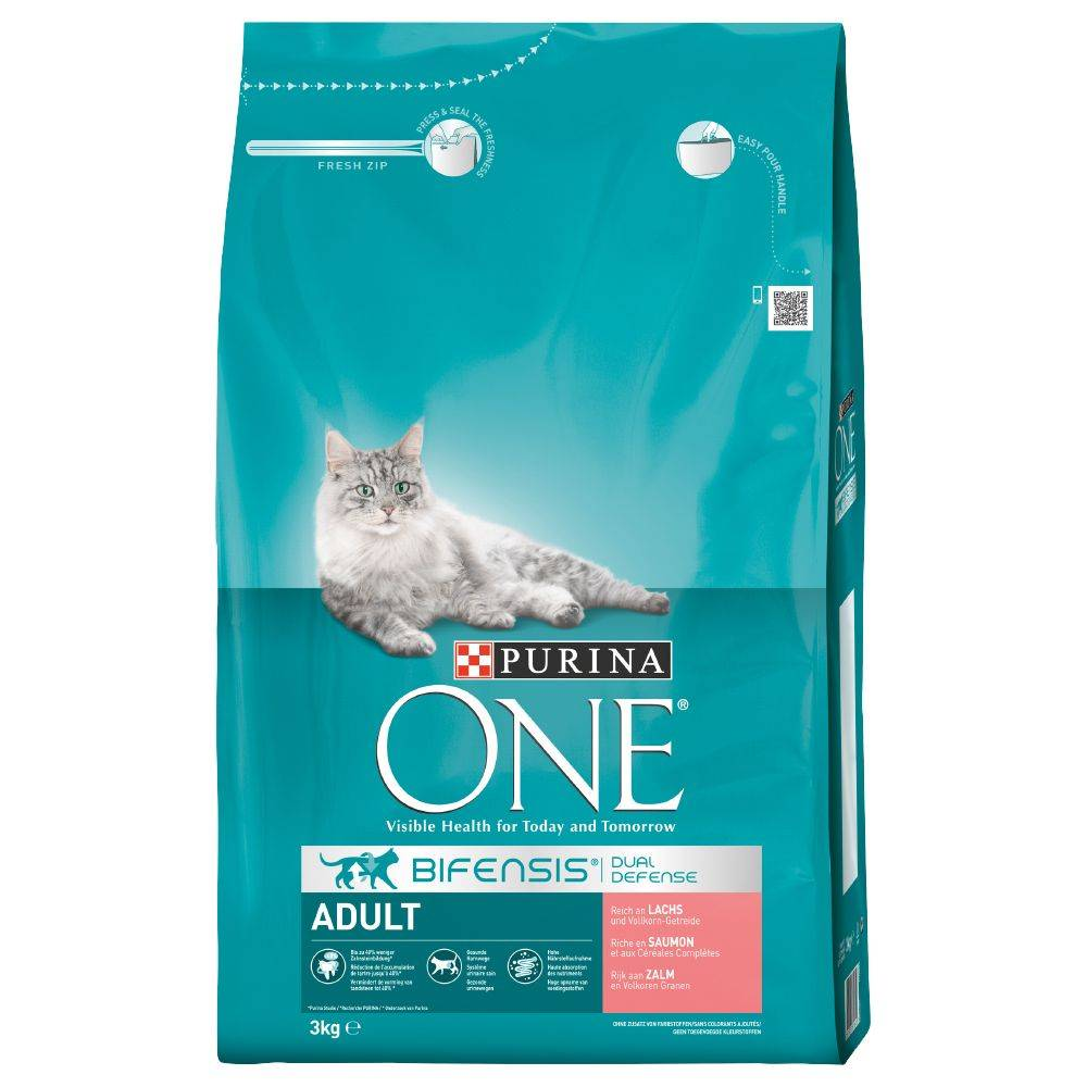 Purina ONE Adult Salmon & Whole Grain Cereals - 1,5 kg
