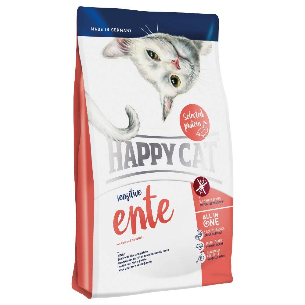 Happy Cat Sensitive Duck - säästöpakkaus: 2 x 4 kg