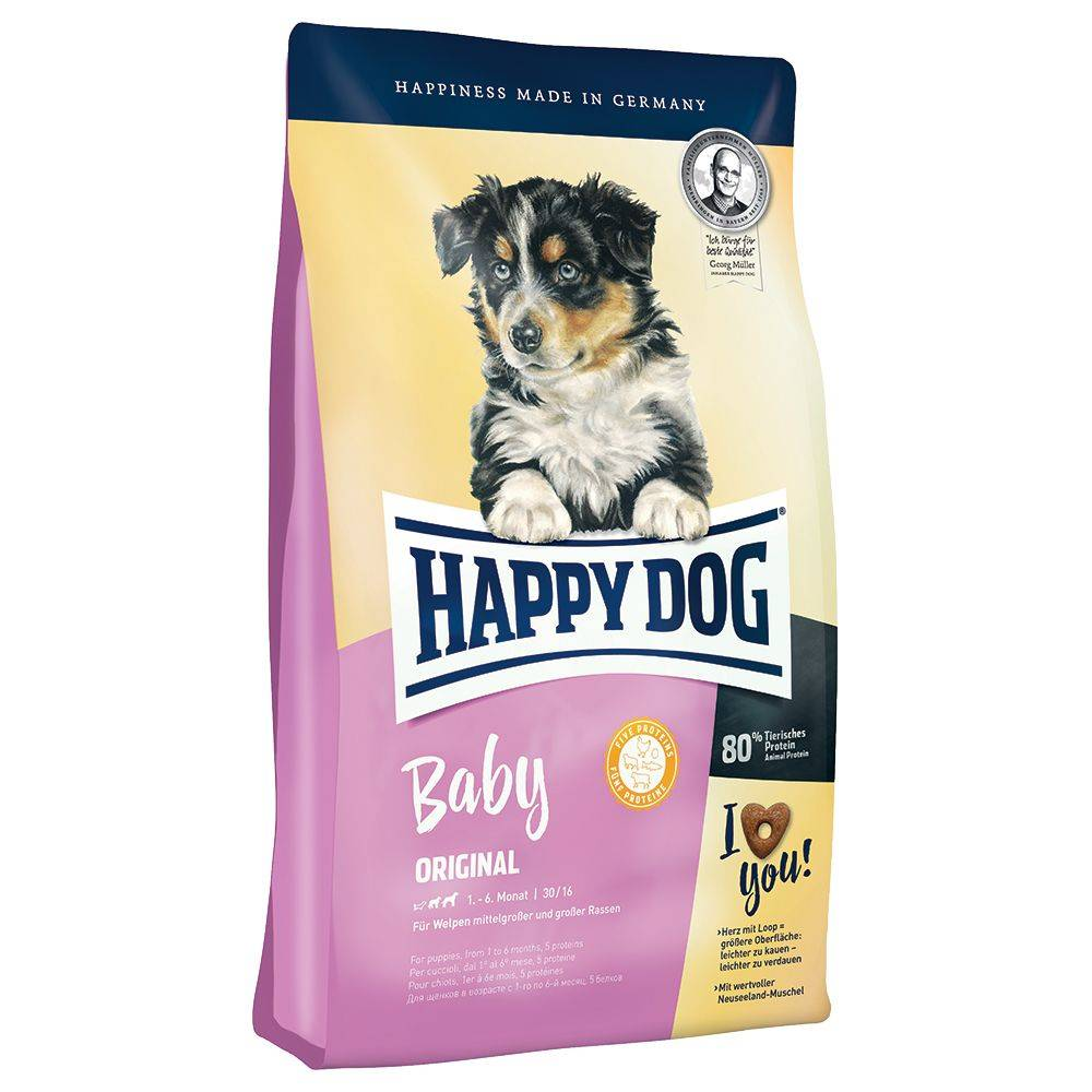 Happy Dog Supreme Young Baby Original - säästöpakkaus: 3 x 4 kg