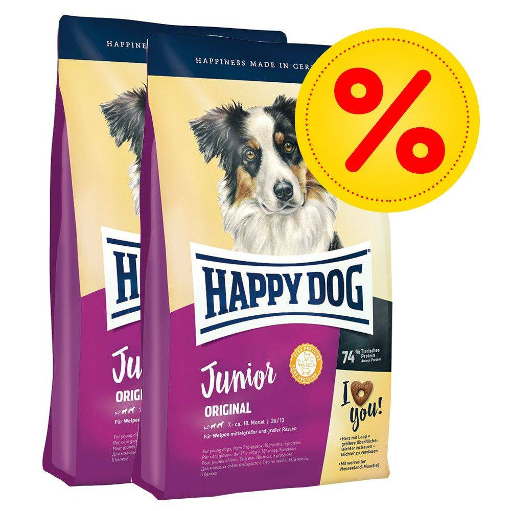 Happy Dog Supreme Young Happy Dog Supreme Junior-säästöpakkaus - 3 x 4 kg Young Baby Original