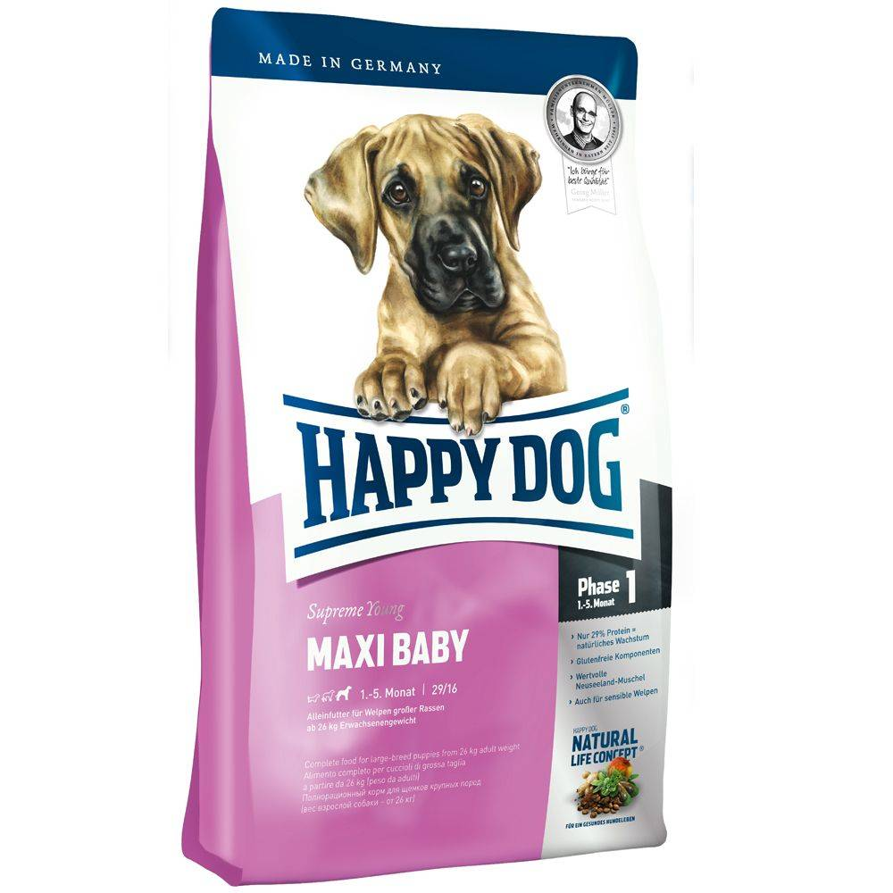 Happy Dog Supreme Young Maxi Baby (Phase 1) - säästöpakkaus: 2 x 15 kg