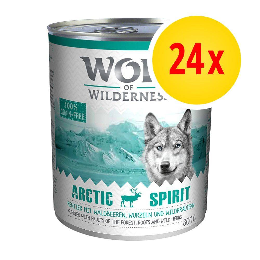 Wolf of Wilderness Säästöpakkaus: Wolf of Wilderness 24 x 800 g - Oak Woods - villisika