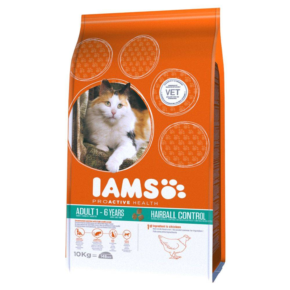 IAMS Pro Active Health Adult Hairball Control - 10 kg