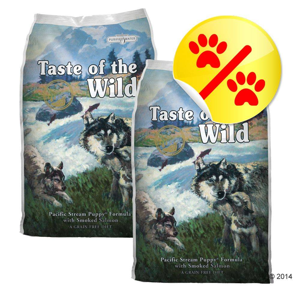 Taste of the Wild Säästöpakkaus: Taste of the Wild - Pacific Stream Puppy - 2 x 13 kg