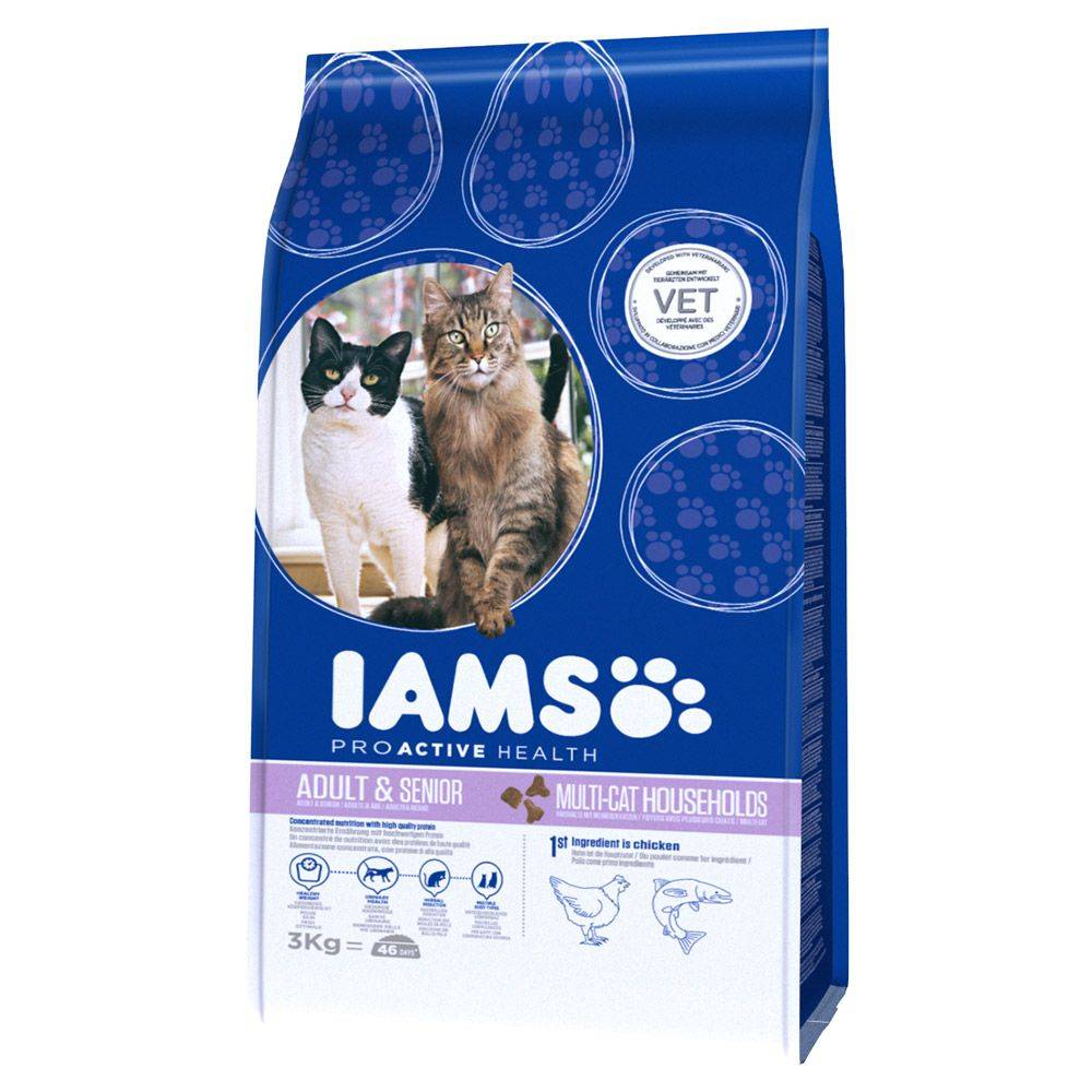 IAMS Pro Active Health Adult Multi-Cat Household - säästöpakkaus: 2 x 15 kg