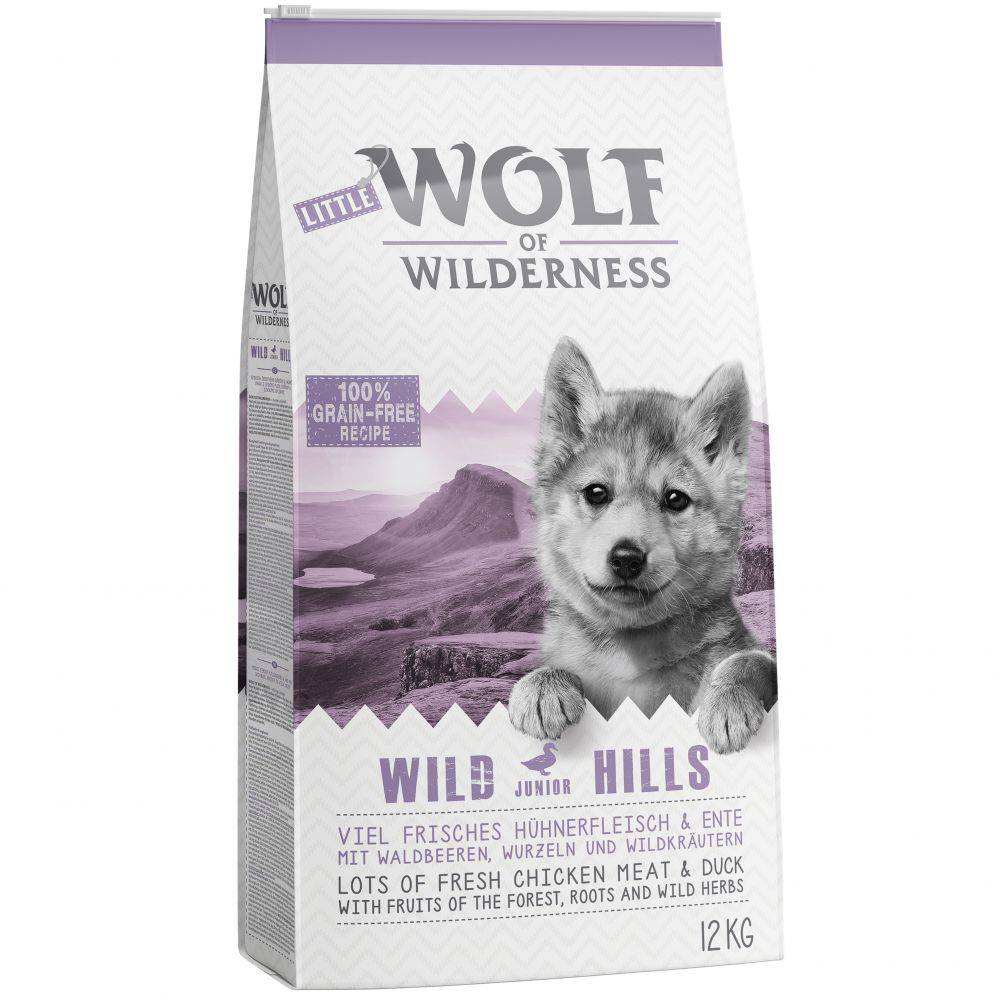 Wolf of Wilderness Little Wolf of Wilderness Junior - Wild Hills - säästöpakkaus: 2 x 12 kg