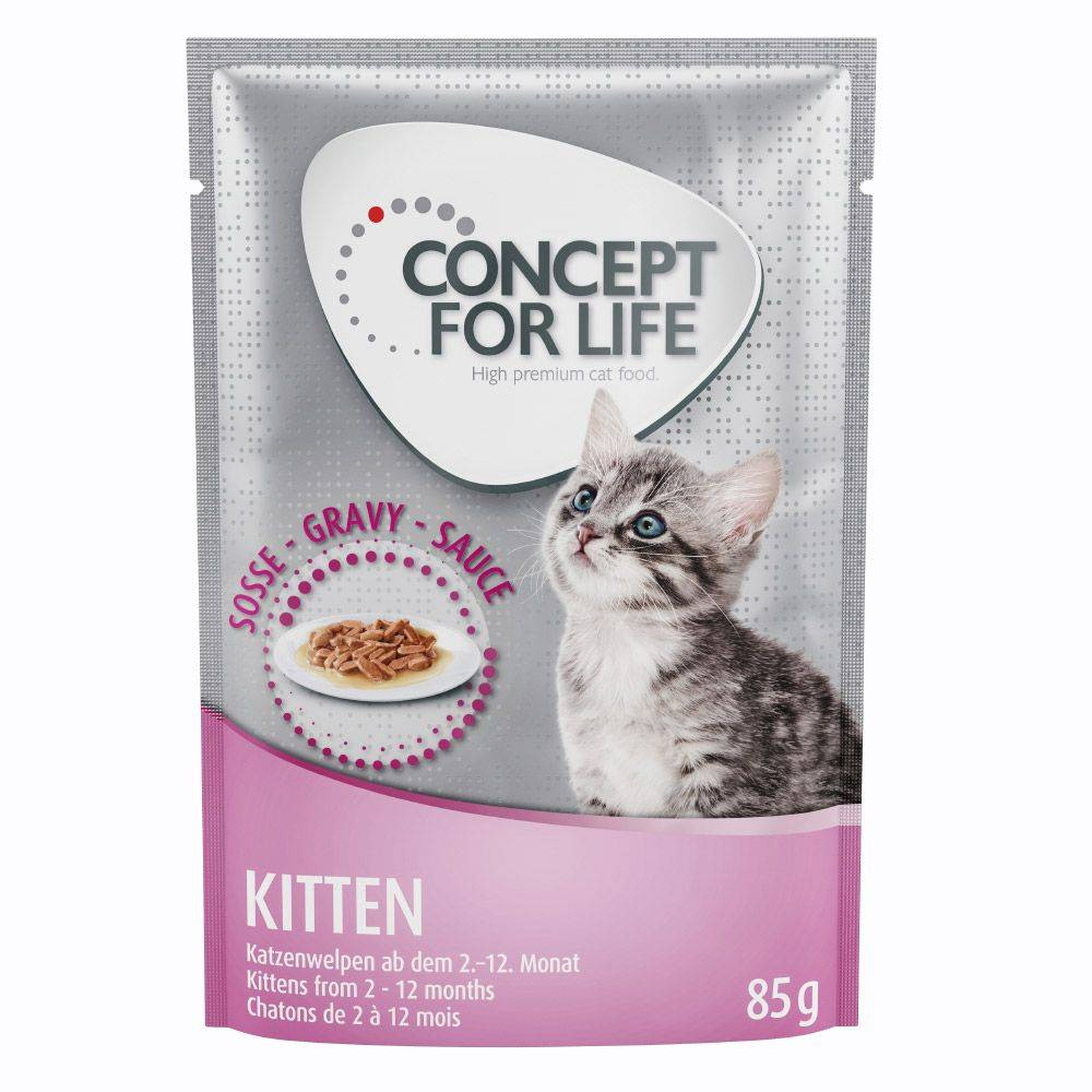 Concept for Life Kitten - in Gravy - 48 x 85 g