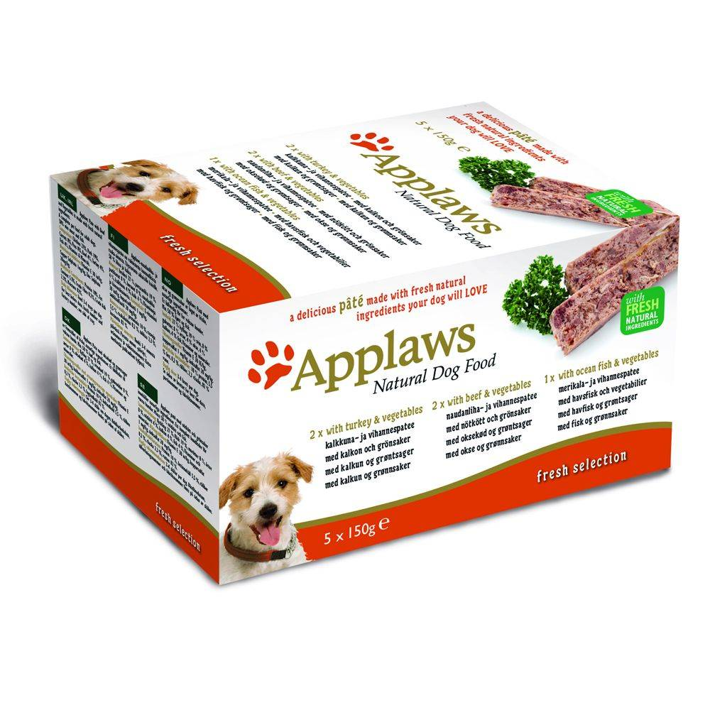 Applaws Dog Pate -lajitelma 5 x 150 g - Country Selection