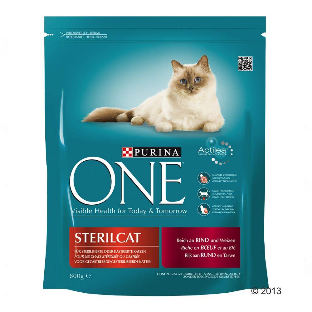Purina ONE Neutered Cat - Beef - 1,5 kg