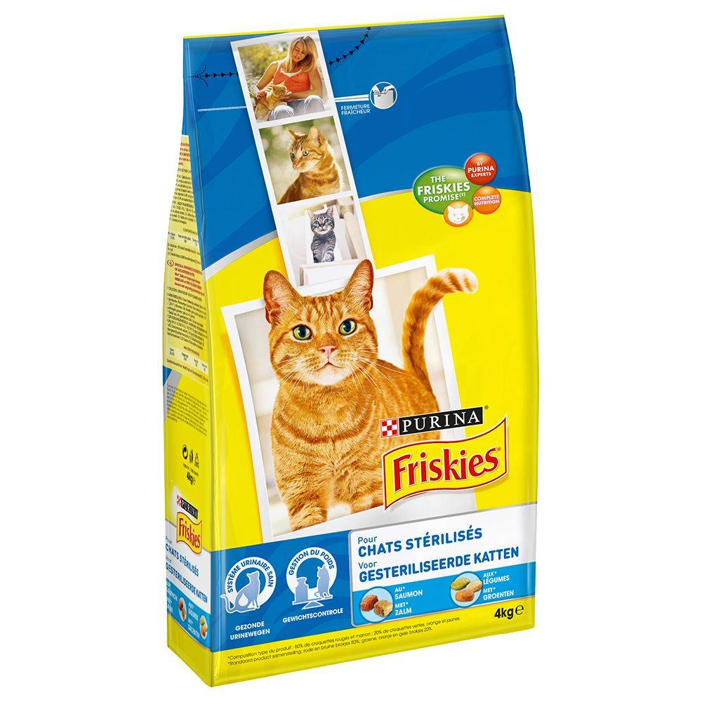 Friskies Sterilized Cats Salmon and Vegetables - 4 kg