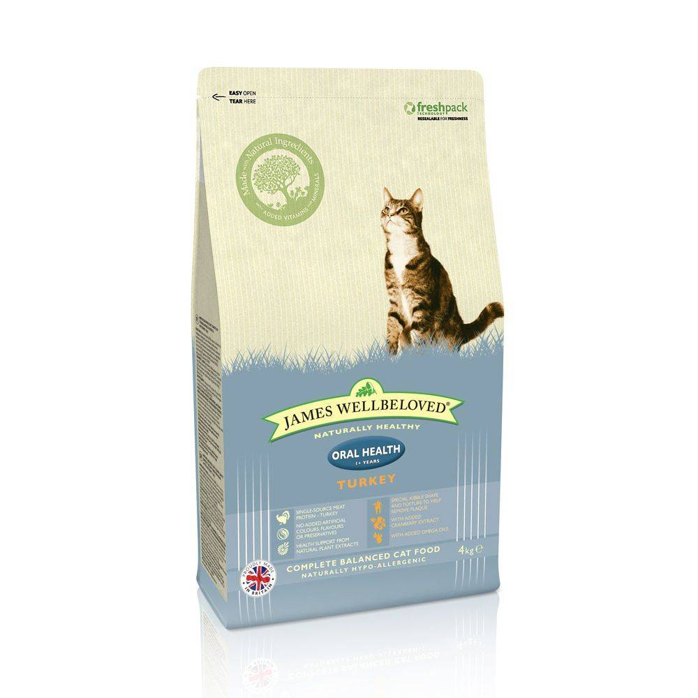 James Wellbeloved Adult Oral Health Turkey - säästöpakkaus: 2 x 4 kg