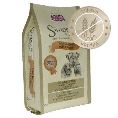 Simpsons Premium Sensitive Adult Duck & Potato - 12 kg
