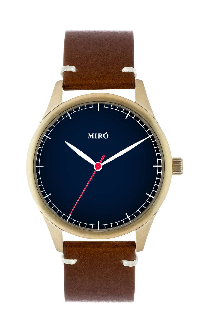 MIRÓ WATCHES GOLD/BLUE/CHOCOLATE