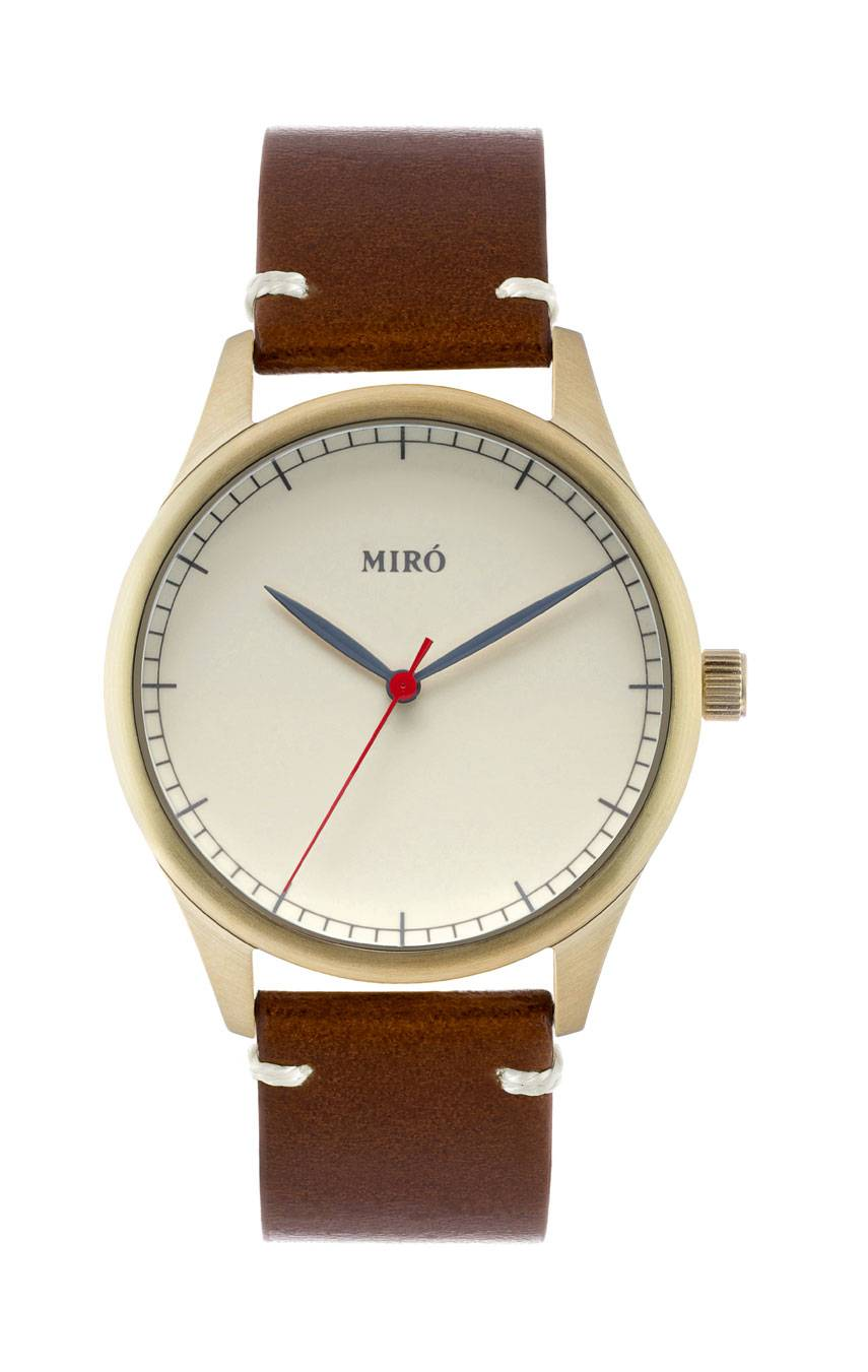 MIRÓ WATCHES GOLD/CREME/CHOCOLATE