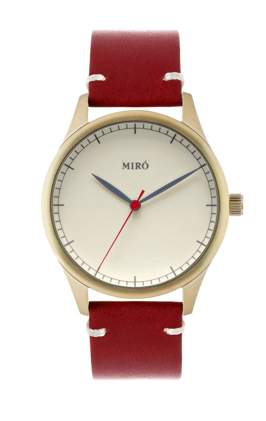MIRÓ WATCHES GOLD/CREME/RUBY