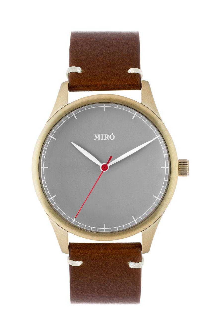 MIRÓ WATCHES GOLD/GREY/CHOCOLATE