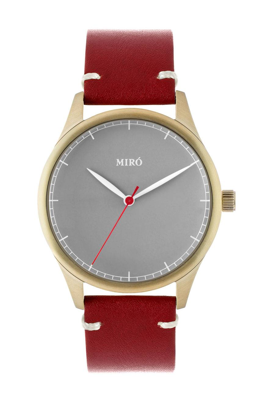 MIRÓ WATCHES GOLD/GREY/RUBY