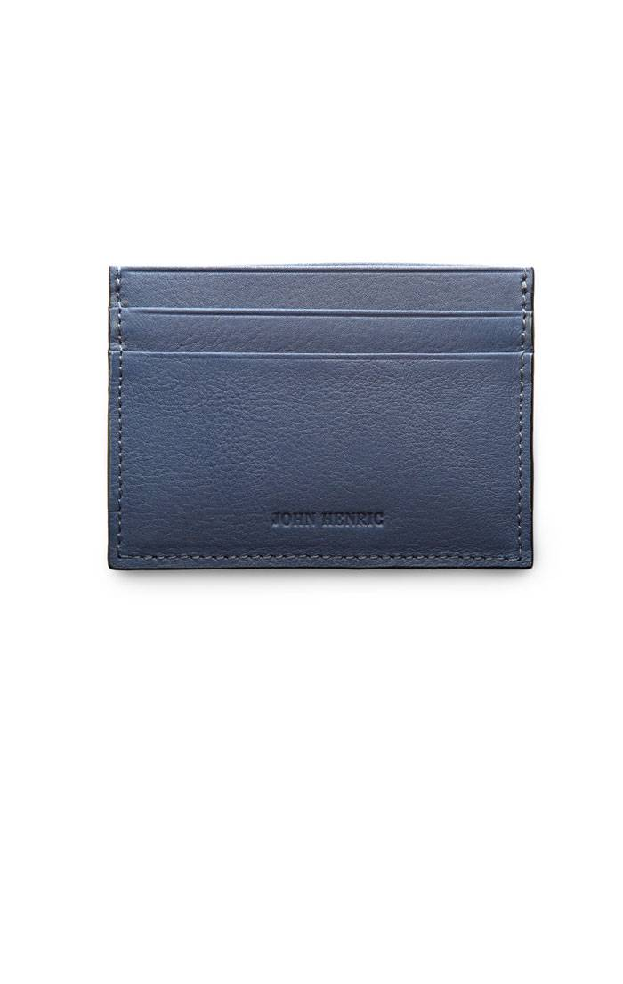 JOHN HENRIC DUST BLUE CARD HOLDER