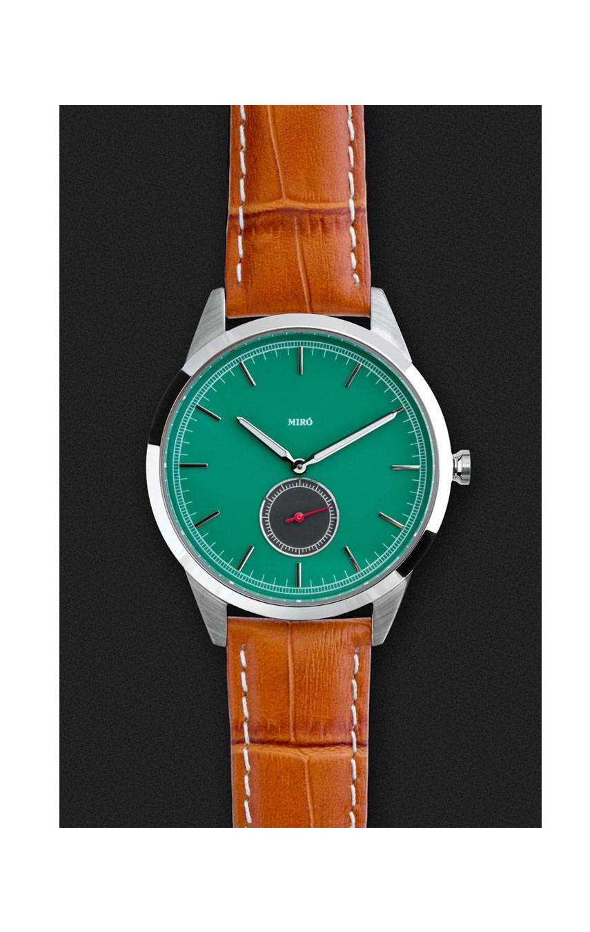 MIRÓ WATCHES OCCASION 38 SUB SECONDS – EMERALD GREEN