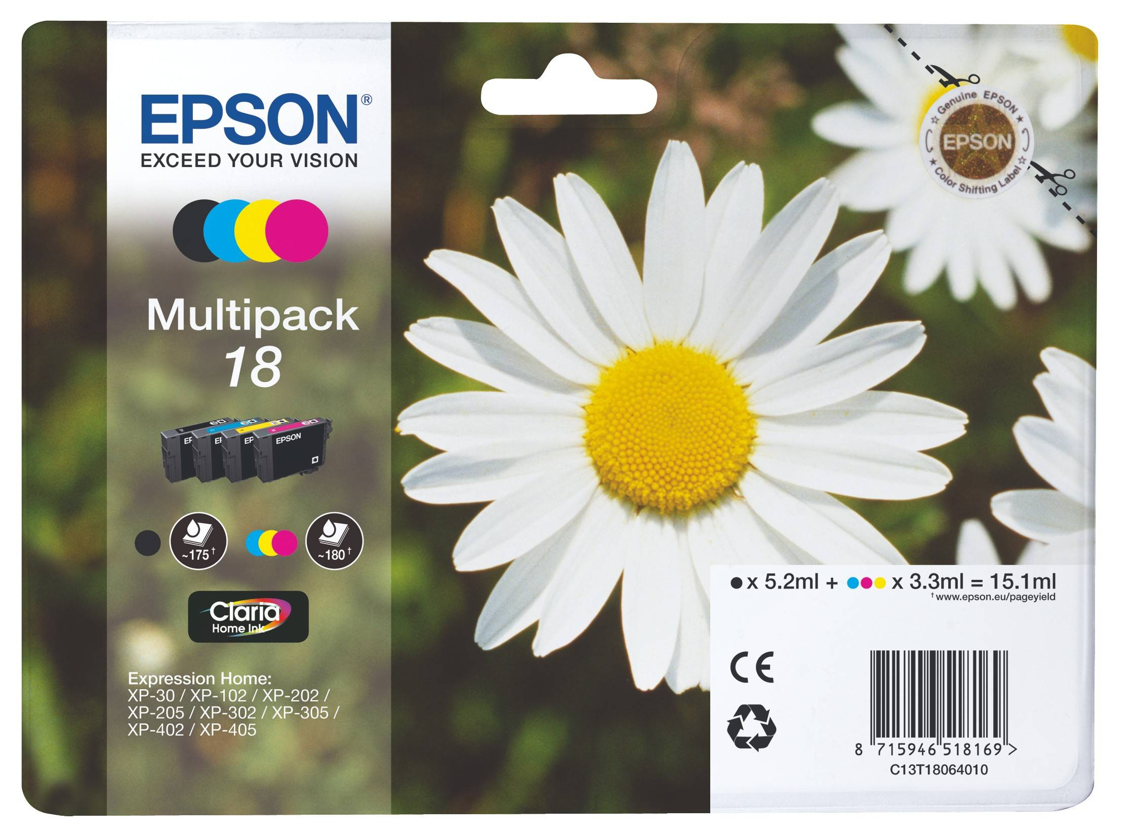 Epson Claria Home 18 muste (multipack)