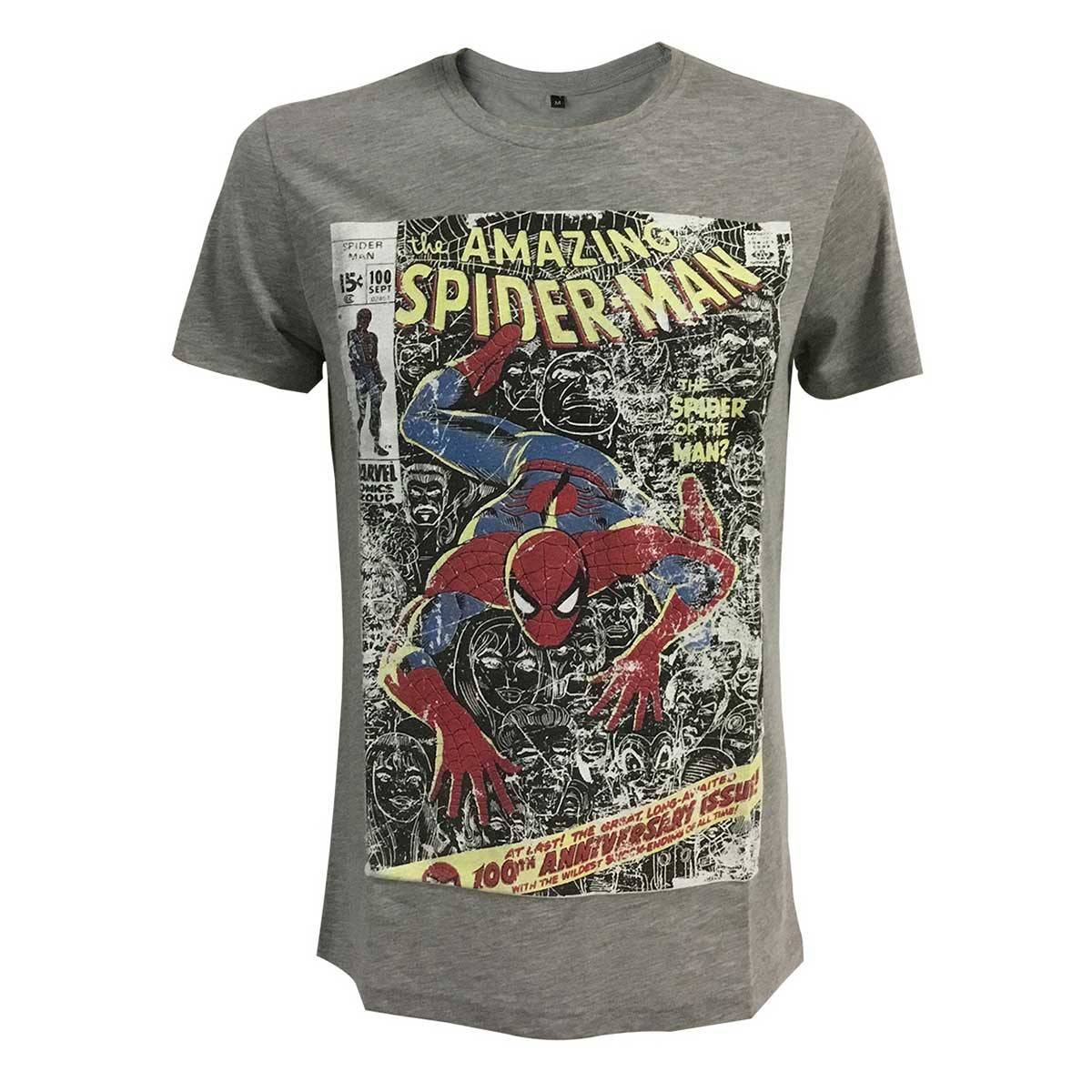 Nordic Game Supply Marvel t-paita - The Amazing Spiderman (harmaa) (L)