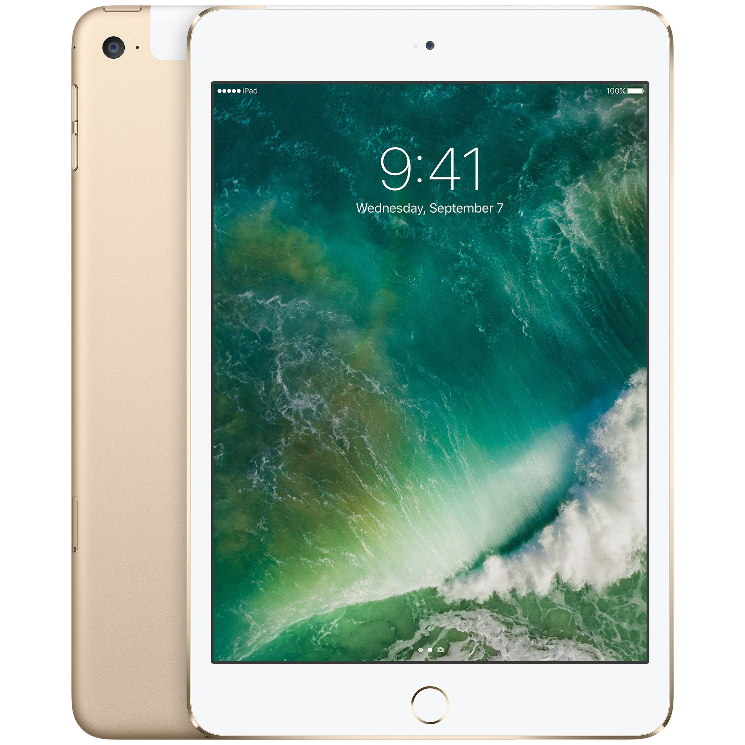 Apple iPad mini 4 128 GB WiFi + Cellular (kulta)
