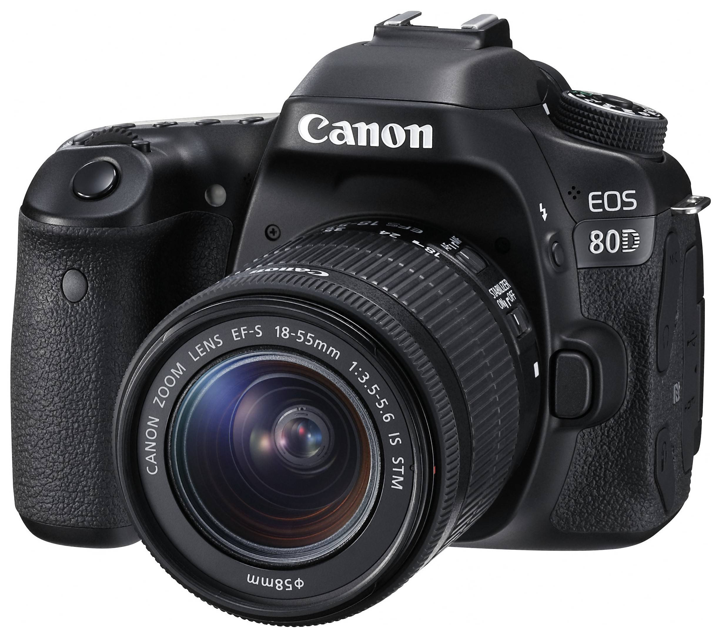 Canon EOS 80D kamera + 18-55mm IS STM objektiivi