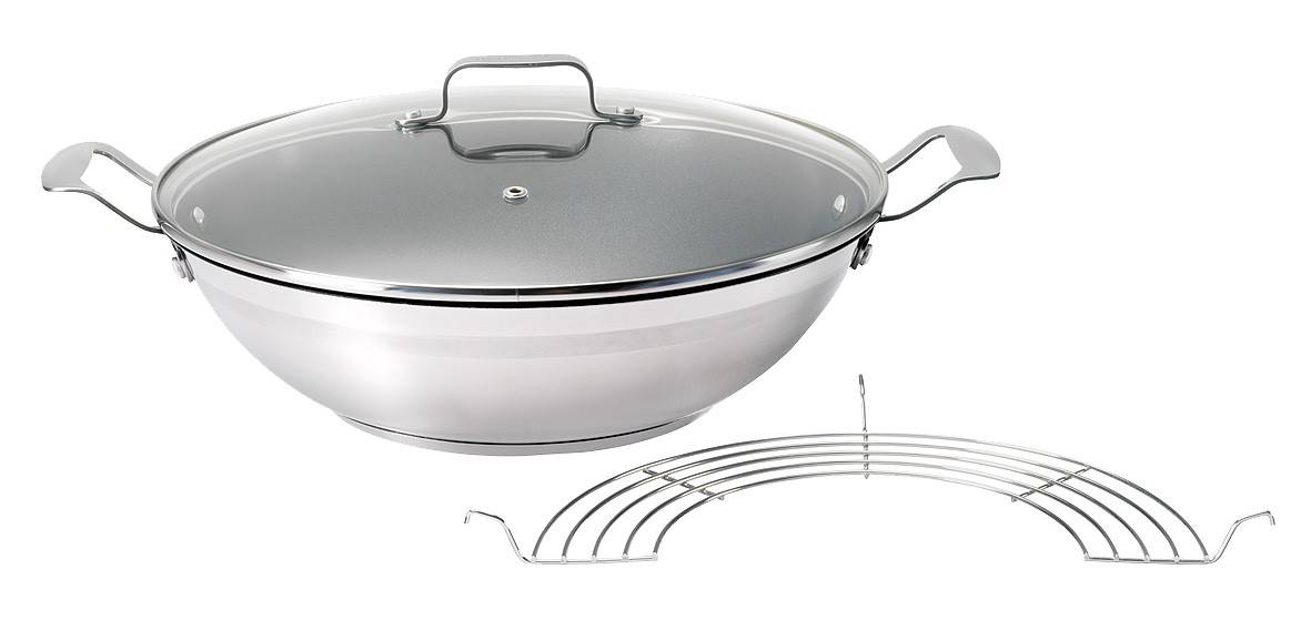 Tefal Jamie Oliver Mass Stainless Steel wokkipannu 32cm