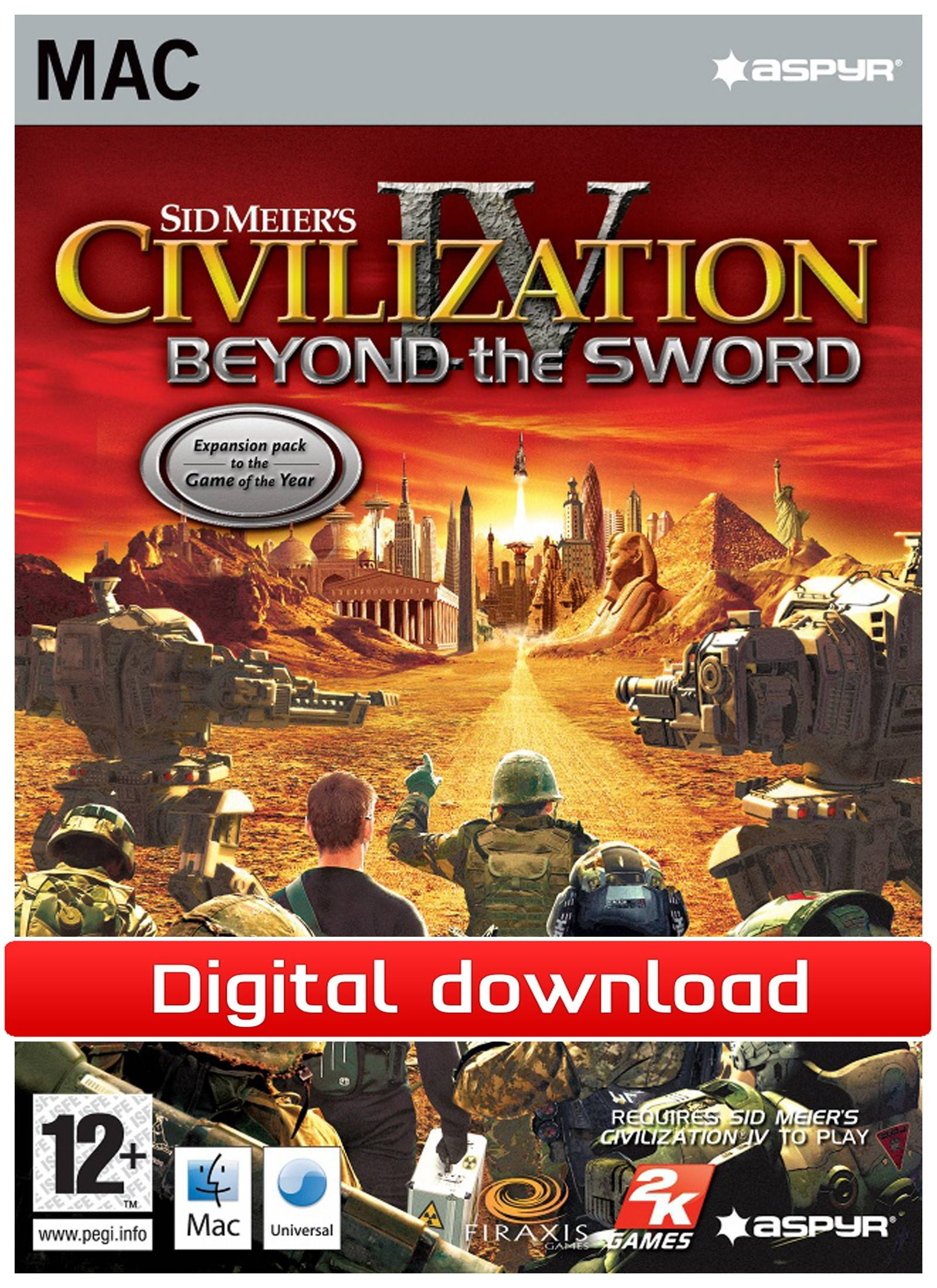 Electronic Arts Civilization 4: Beyond the Sword Mac (Download)