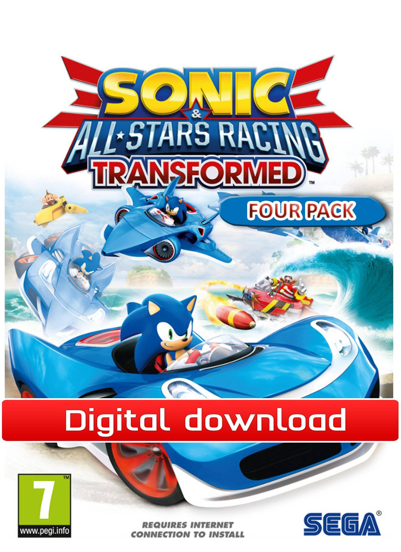 Electronic Arts Sonic and SEGA All-Stars Racing - Four-Pack (Download)