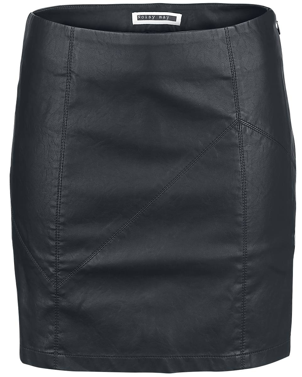 Noisy May Rebel PU Short Skirt Hame musta