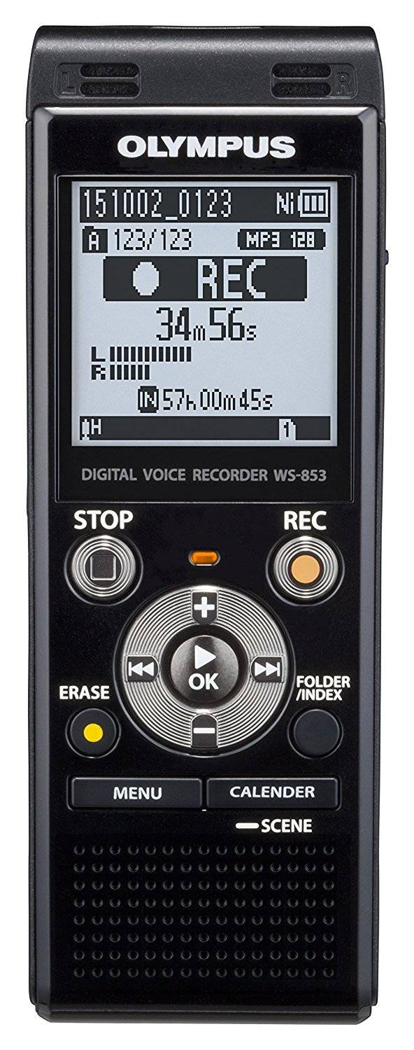 Olympus Ws-853 Digital Voice Recorder With Mp3 Player, 8gb